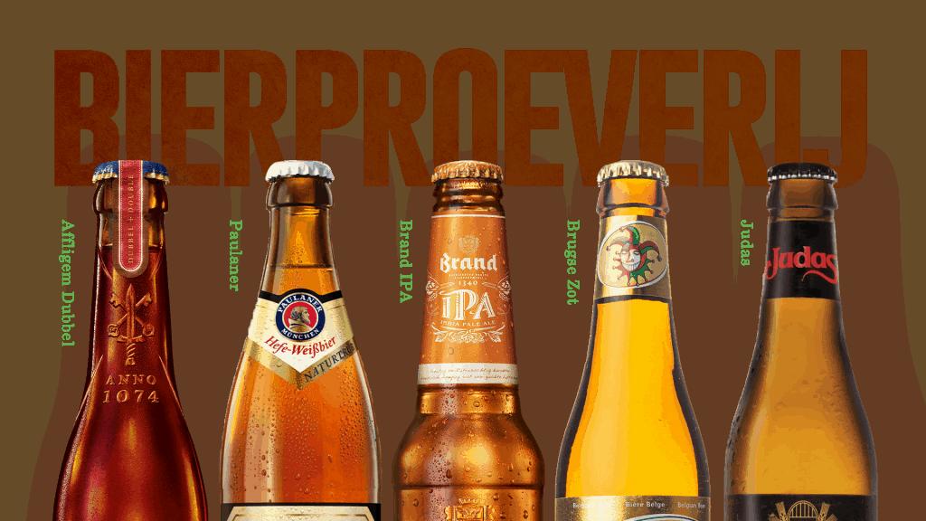 banner bierproeverij concept